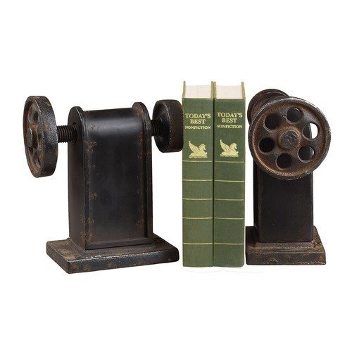 Sterling Lighting Sterling Lighting Restoration Rusted Black Bookend 129-1008/S2