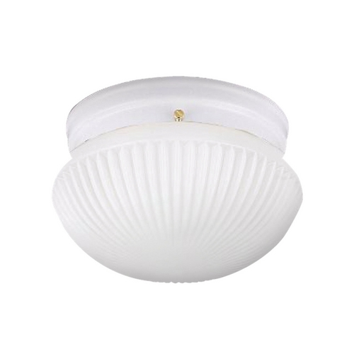 Sea Gull Lighting Flushmount Light with White Glass in White Finish 5921BLE-15