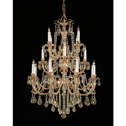 Crystorama Lighting Crystal Chandelier in Olde Brass Finish 480-OB-GT-MWP
