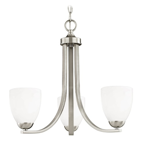 Design Classics Lighting Design Classics Dalton Fuse Satin Nickel Mini-Chandelier 5843-09 GL1024MB