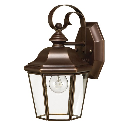 Hinkley Lighting Outdoor Wall Light with Clear Glass in Copper Bronze Finish 2420CB
