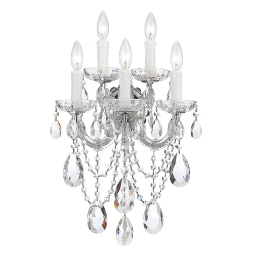 Crystorama Lighting Crystorama Lighting Maria Theresa Polished Chrome Sconce 4425-CH-CL-SAQ