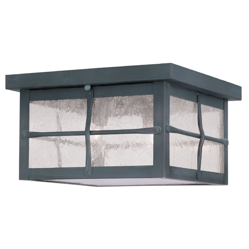 Livex Lighting Livex Lighting Brighton Hammered Charcoal Close To Ceiling Light 2689-61