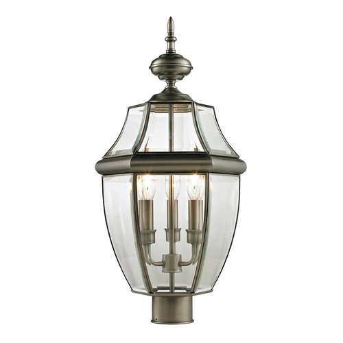 Cornerstone Lighting Cornerstone Lighting Ashford Antique Nickel Post Light 8603EP/80