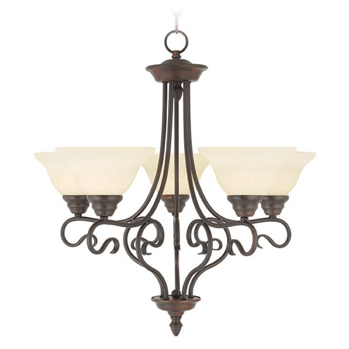 Livex Lighting Livex Lighting Coronado Imperial Bronze Chandelier 6115-58