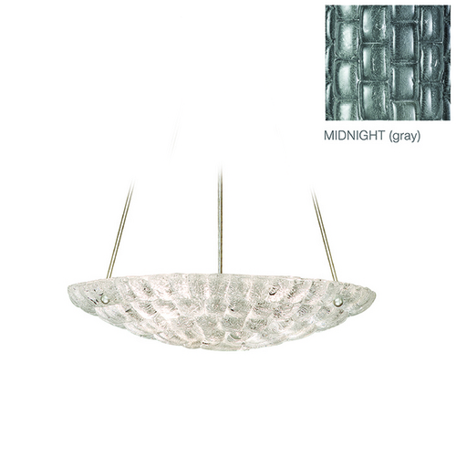 Fine Art Lamps Fine Art Lamps Constructivism Hand-Applied Silver Pendant Light 842840-1ST
