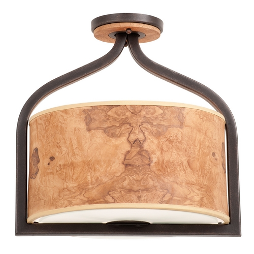 Kalco Lighting Kalco Lighting New Haven Heirloom Bronze Semi-Flushmount Light 2758HB