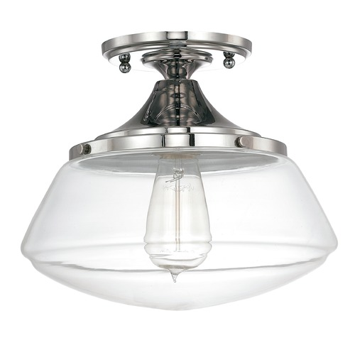 Capital Lighting Capital lighting Clear Schoolhouse Semi-Flushmount Light 3537PN-134