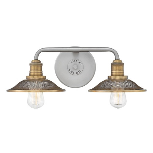 Hinkley Lighting Farmhouse Bathroom Light Antique Nickel Rigby by Hinkley Lighting 5292AN