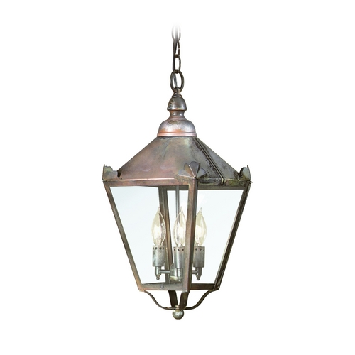 Troy Lighting Outdoor Hanging Light with Clear Glass in Charred Iron Finish FCD8945CI