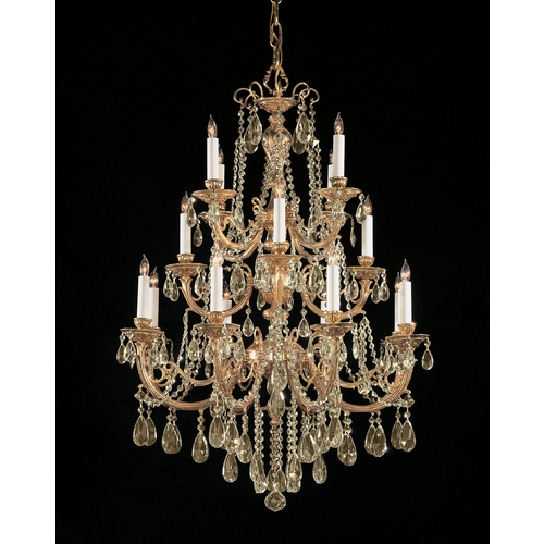 Crystorama Lighting Crystal Chandelier in Olde Brass Finish 480-OB-GTS