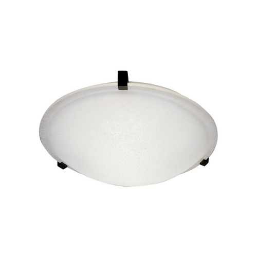 PLC Lighting Modern Flushmount Light with White Glass in Polished Chrome Finish 3464 PC