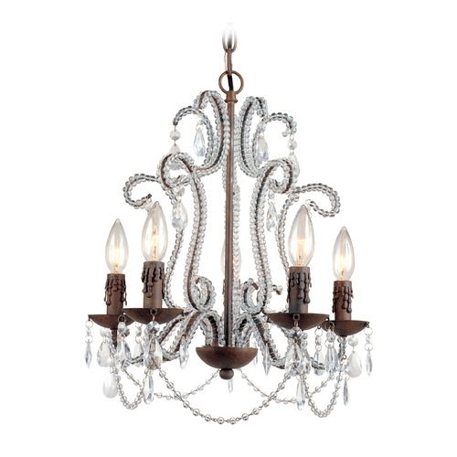 AF Lighting Mini-Chandelier in Godiva Finish 5195-5H