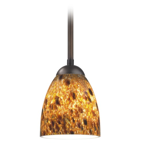 Design Classics Lighting Design Classics Gala Fuse Neuvelle Bronze Mini-Pendant Light with Bell Shade 581-220 GL1005MB