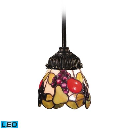 Elk Lighting Elk Lighting Mix-N-Match Tiffany Bronze LED Mini-Pendant Light with Scalloped Shade 078-TB-19-LED