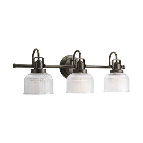 Progress Lighting Progress Bathroom Light with Clear Glass in Venetian Bronze Finish P2992-74