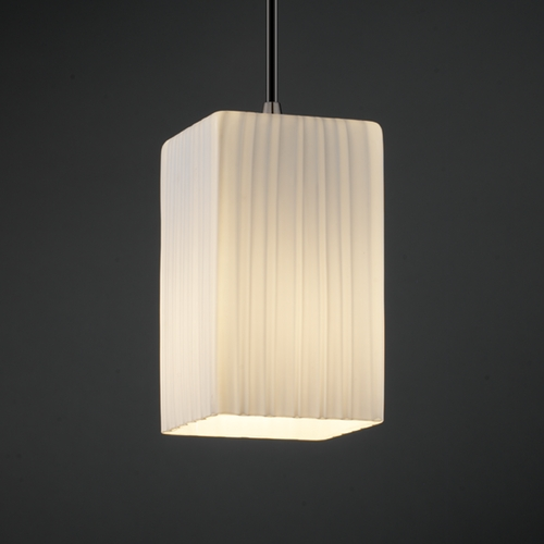 Justice Design Group Justice Design Group Fusion Collection Mini-Pendant Light FSN-8816-15-RBON-NCKL