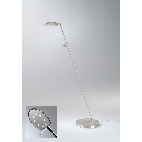 Holtkoetter Lighting Holtkoetter Modern LED Floor Lamp in Satin Nickel Finish 6470LED SN