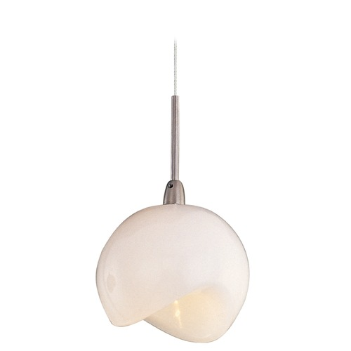 ET2 Lighting Minx Satin Nickel Mini-Pendant Light with Bowl / Dome Shade E94306-10SN