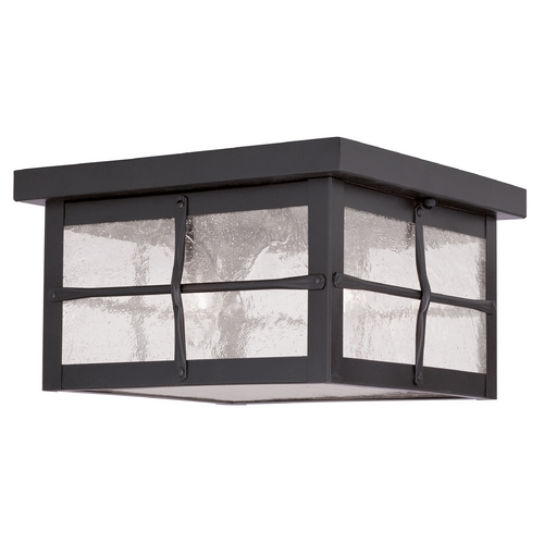 Livex Lighting Livex Lighting Brighton Hammered Bronze Close To Ceiling Light 2689-07