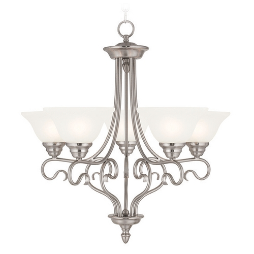 Livex Lighting Livex Lighting Coronado Brushed Nickel Chandelier 6115-91