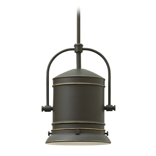 Hinkley Lighting Hinkley Lighting Pullman Oil Rubbed Bronze Pendant Light with Cylindrical Shade 3257OZ-GU24