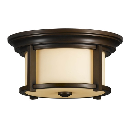 Feiss Lighting Feiss Lighting Merrill Heritage Bronze LED Close To Ceiling Light OL7513HTBZ-LED