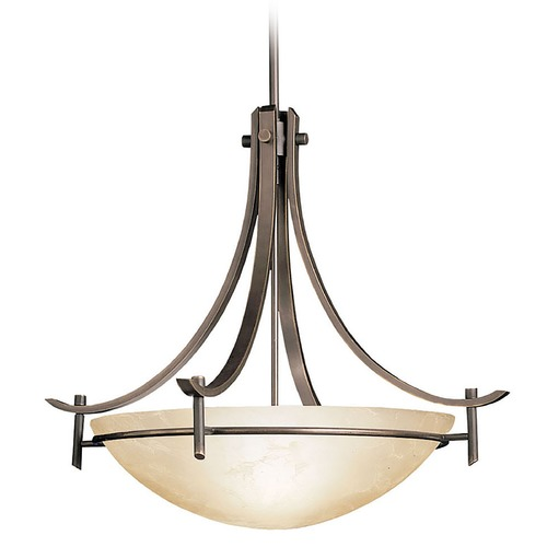 Kichler Lighting Kichler Pendant with Amber Marble-Glass Shade 3278OZ