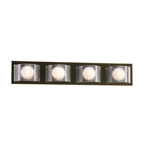 Progress Lighting Modern Bathroom Light with Clear Glass in Antique Bronze Finish P2852-20WB