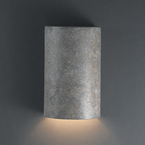 Justice Design Group Outdoor Wall Light in Mocha Travertine Finish CER-5940W-TRAM