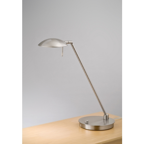 Holtkoetter Lighting Holtkoetter Modern Table Lamp in Satin Nickel Finish 6477 SN