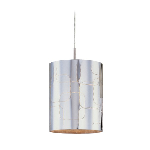 ET2 Lighting Minx Satin Nickel Mini-Pendant Light with Cylindrical Shade E94307-69SN