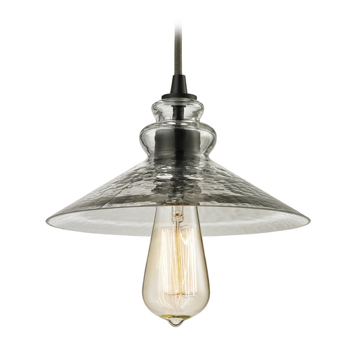 Elk Lighting Mini-Pendant Light with Grey Glass 10332/1