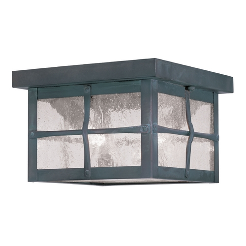 Livex Lighting Livex Lighting Brighton Hammered Charcoal Close To Ceiling Light 2688-61