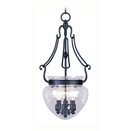 Livex Lighting Livex Lighting Duchess Black Pendant Light with Bowl / Dome Shade 5043-04