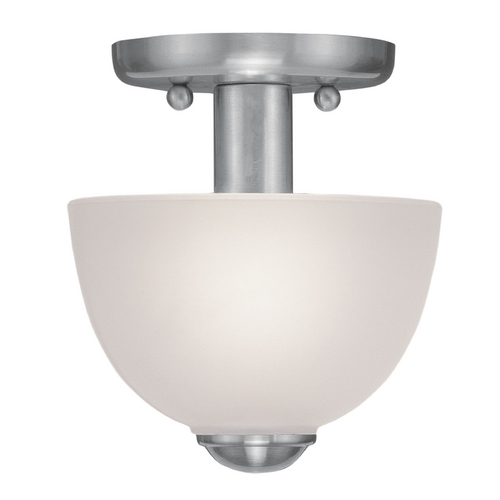 Livex Lighting Livex Lighting Somerset Brushed Nickel Semi-Flushmount Light 4190-91
