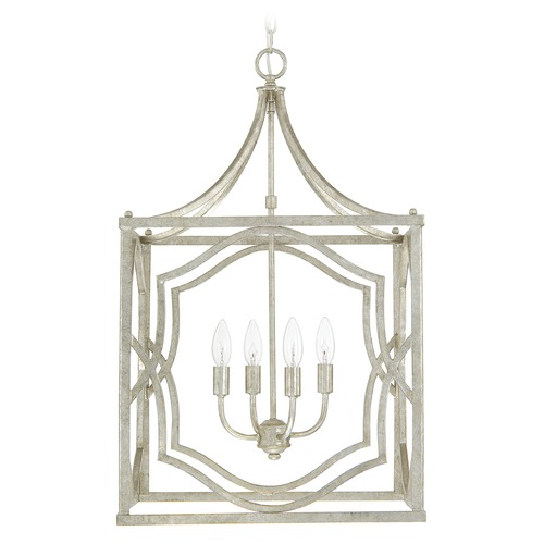 Capital Lighting Capital Lighting Blakely Antique Silver Pendant Light 9482AS