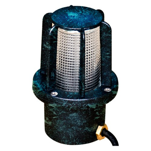 Dabmar Lighting Verde Green Cast Aluminum In-Ground Well Light with Guard LV14-VG