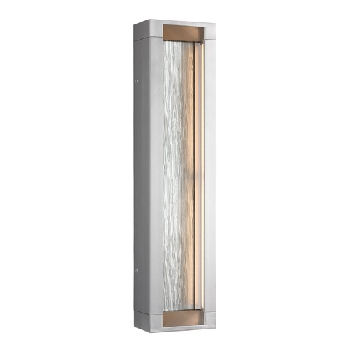 Feiss Lighting Feiss Lighting Mattix Painted Silver LED Outdoor Wall Light OL11602PSI-LED