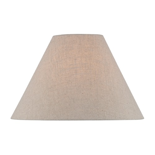 Lite Source Lighting Beige Empire Lamp Shade with Spider Assembly CH1255-16