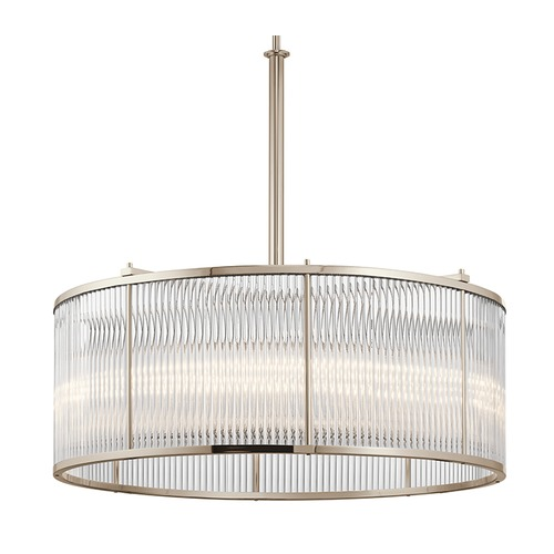 Kichler Lighting Kichler Lighting Artina Polished Nickel Pendant Light with Drum Shade 43863PN