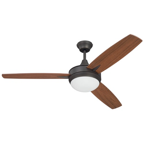 Craftmade Lighting 52-Inch Espresso Ceiling Fan with LED Light 3000K 1235LM TG52ESP3-UCI