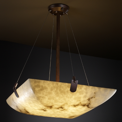 Justice Design Group Justice Design Group Lumenaria Collection Pendant Light FAL-9627-25-DBRZ