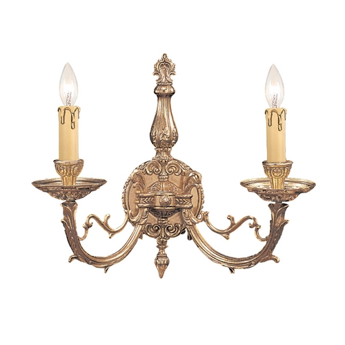 Crystorama Lighting Sconce Wall Light in Olde Brass Finish 482-OB