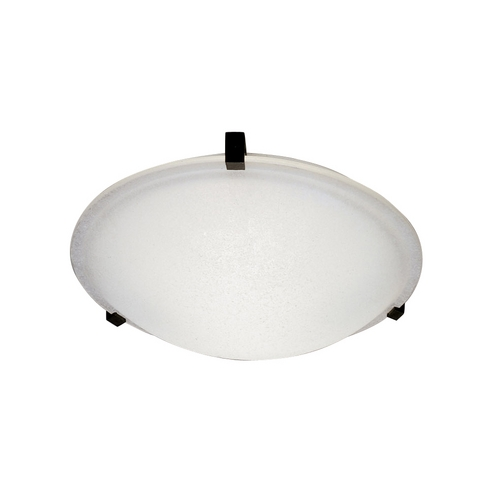 PLC Lighting Modern Flushmount Light with White Glass in Natural Iron Finish 3464  IR