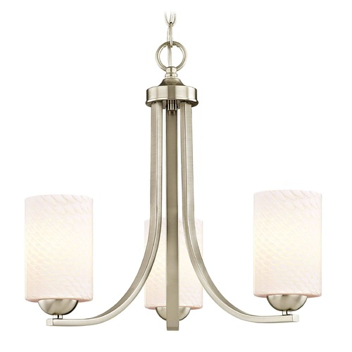Design Classics Lighting Design Classics Dalton Fuse Satin Nickel Mini-Chandelier 5843-09 GL1020C