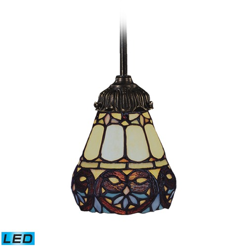 Elk Lighting Elk Lighting Mix-N-Match Tiffany Bronze LED Mini-Pendant Light with Bowl / Dome Shade 078-TB-21-LED
