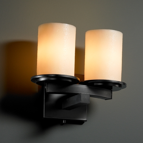 Justice Design Group Justice Design Group Candlearia Collection Bathroom Light CNDL-8775-10-CREM-MBLK