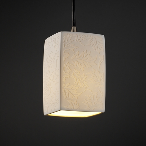Justice Design Group Justice Design Group Limoges Collection Mini-Pendant Light POR-8816-15-LEAF-NCKL