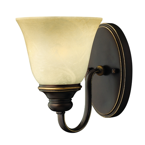 Hinkley Lighting Sconce Wall Light with Alabaster Glass in Antique Bronze Finish 5450AT